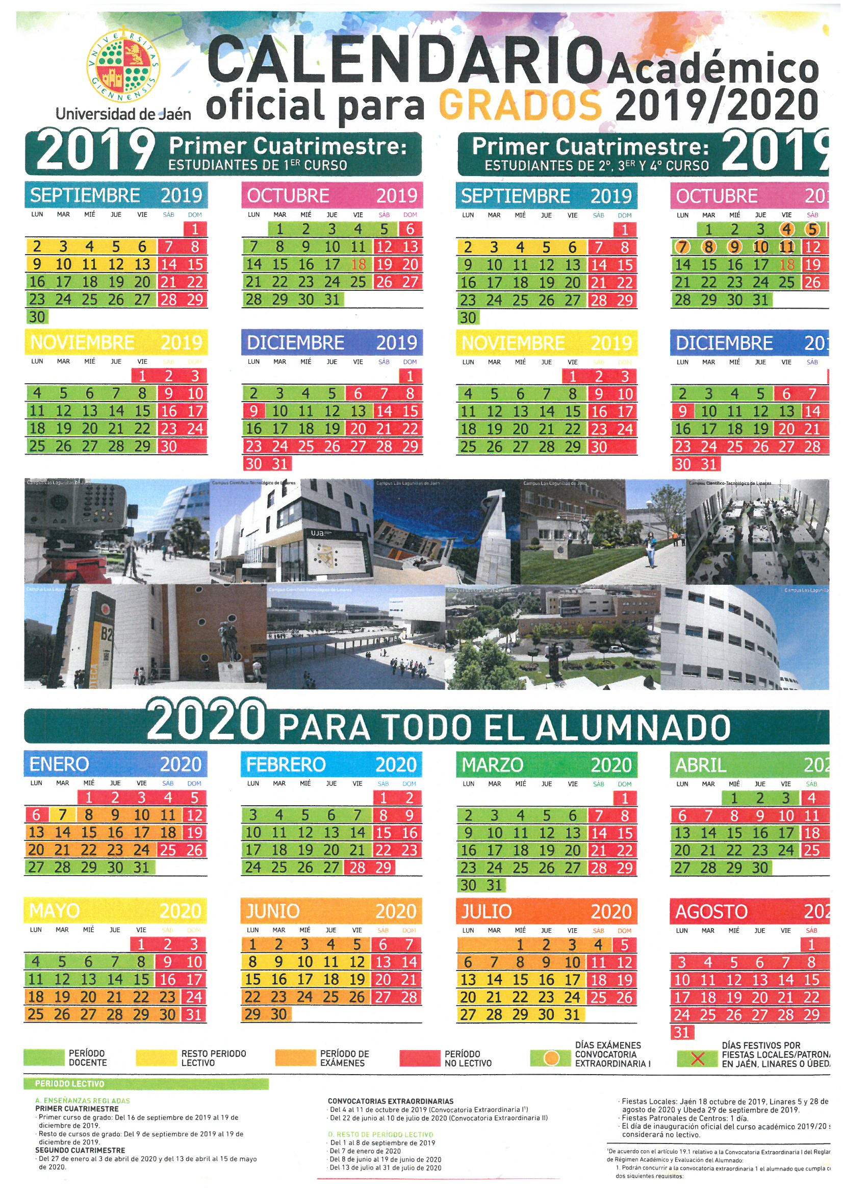 Calendario 18.Calendario De Curso Academico 2019 2020 Faculty Of Experimental